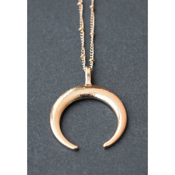 Crescent Horn Necklace: Shop Mint Jules Crescent Horn Gold Pendant Necklace