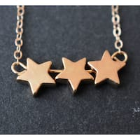 Mint Jules Dainty Tripple Star Layering Necklace