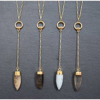 Mint Jules Stone Point Lariat Pendant Necklace