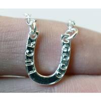Mint Jules Dainty Good Luck Horseshoe Layering Necklace