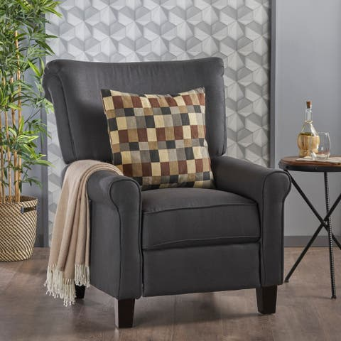 Thalia Traditional Fabric Recliner by Christopher Knight Home