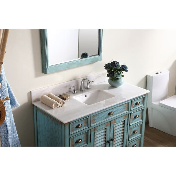 Modetti Palm Beach 47 Inch Single Sink Bathroom Vanity With Marble Top Overstock 17949750