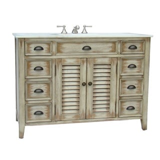 Modetti Palm Beach 47-inch Single-sink Bathroom Vanity With Marble Top