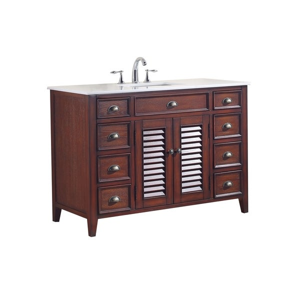 Modetti Palm Beach 47 Inch Single Sink Bathroom Vanity With Marble Top