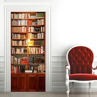 3D Bookcase Door Wall Mural Wallpaper Stickers Removable Decals for Home Decoration Wall Vinyl