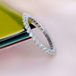 Link to De Couer 14k Gold 1/ 2ct TDW Diamond Eternity Wedding Band Similar Items in Wedding Rings