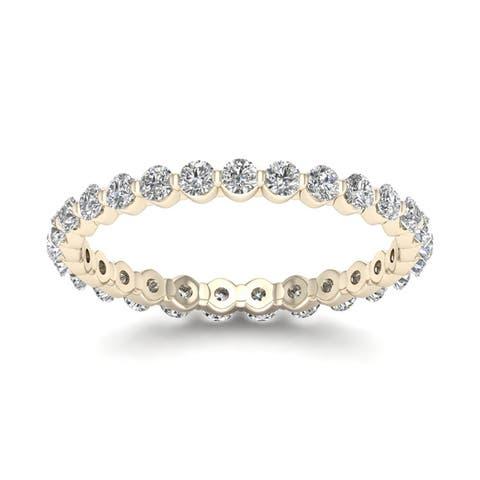 De Couer 14k Gold 3/4ct TDW Diamond Eternity Wedding Band