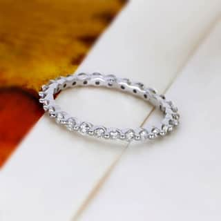De Couer 14k Gold 3/4ct TDW Diamond Eternity Wedding Band|https://ak1.ostkcdn.com/images/products/17950161/P24128243.jpg?impolicy=medium