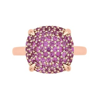 14K Rose Gold 1 1/4ct TDW Pink Sapphire Cluster Fashion Ring (More options available)