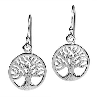 Winter Branches Tree of Life Sterling Silver Earrings (Thailand)