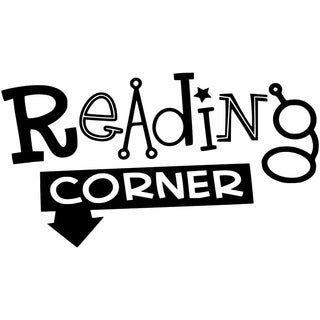 Reading Corner Quote Vinyl Wall Sticker Decal For Home Decor -20 inch x 11 inch