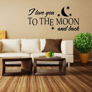I Love You To the Moon and Back Quote Home Wall Sticker Art Decal Room Decor Wall Vinyl