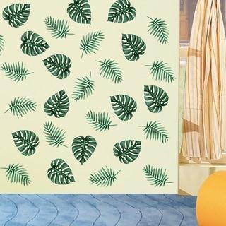 Green Palm Leaves Wall Decal Art Vinyl Sticker Plant Mural Home Decor Wall Vinyl
