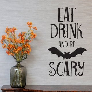 Halloween Bat Decal Living Room Wall Stickers Removable Glass Showcase Decor Wall Vinyl