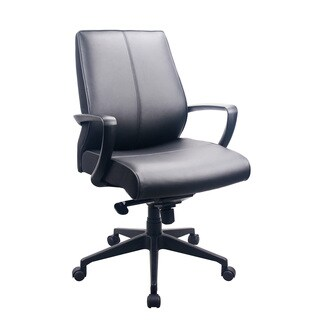 Eurotech Seating Tempurpedic Black Leather Office Chair