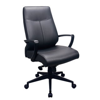 Eurotech Seating Tempurpedic Black Leather High-back Ergonomic Office Chair