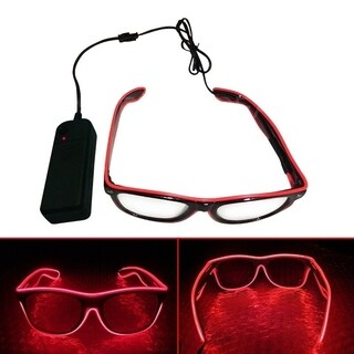 EL Wire Neon LED Light Glow sunglasses for Halloween Costume