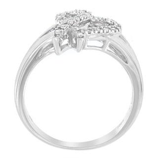 10K White Gold .15ct. TDW Round-cut Diamond Ring (H-I,I3)