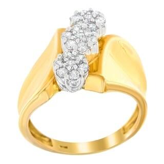 10K Yellow Gold 1/2ct. TDW Round-cut Diamond Ring (H-I,I3) - White