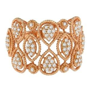 14K Yellow Gold .50ct TDW Braided Metal Diamond Ring (H-I, I1-I2) - White