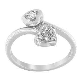 14K White Gold .10ct.TDW Round Cut Diamond Ring(H-I,I1-I2)