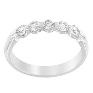 14K White Gold 1/2 ct TDW Round Cut Diamond Ring (H-I, SI2-I1)