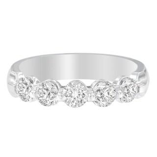 14K White Gold 1ct TDW Round Cut Diamond Ring (H-I, SI2-I1)