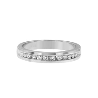 Women's 18k White Gold 1/4ct TDW Round Cut Diamond Band (E-F, I1-I2)