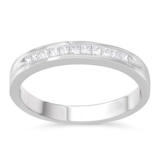 18K White Gold 1/4ct. TDW Princess-Cut Diamond (E-F,I1-I2)