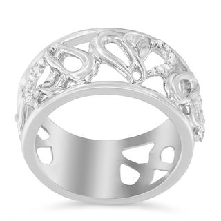 Sterling Silver .13ct TDW Round-cut Dimaond Ring (H-I, I1-I2) - White
