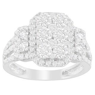 14K White Gold 2 1/4ct. TDW Round-cut Diamond Ring (I-J,I2-I3)