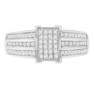 Sterling Silver 3 ct TDW Round Diamond Ring (I-J,I3) - White