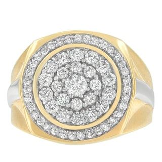 14K Yellow Gold 1.28 ct. TDW Round Cut Diamond Ring (H-I,I1-I2) - White