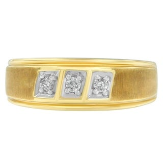 10K Yellow Gold 0.7 ct. TDW Round Cut Diamond Ring (H-I,I1-I2) - White