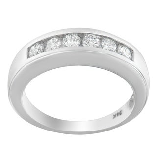 14K White Gold 3/4ct. TDW Round cut Diamond Ring (H-I, I1-I2)