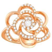 10K Rose Gold 1/2ct. TDW Round-cut Diamond Ring (H-I,I1-I2) - White