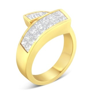 14K Yellow Gold 2 ct. TDW Princess and Baguette-cut Diamond Ring (H-I, SI1-SI2) - White