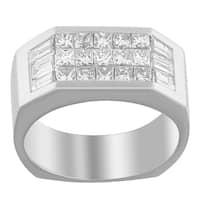14K White Gold 1 3/4 ct. TDW Princess and Baguette-cut Diamond Ring (G-H, VS2-SI1)