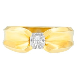 14k Yellow Gold 1 ct TDW Princess Diamond Solitaire Engagement Ring (H-I, SI1-SI2) (3 options available)