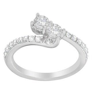 10K White Gold 1/2ct. TDW Round-cut Diamond Ring (H-I,I1-I2)