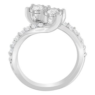 10K White Gold 1ct. TDW Round-cut Diamond Ring (H-I,I1-I2)