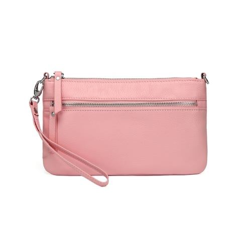 Stacey Distressed Leather Crossbody/Clutch - S