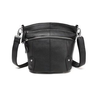 Cassie Leather Crossbody Handbag - Black - S