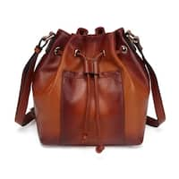 Donnie Leather Bucket Bag - S