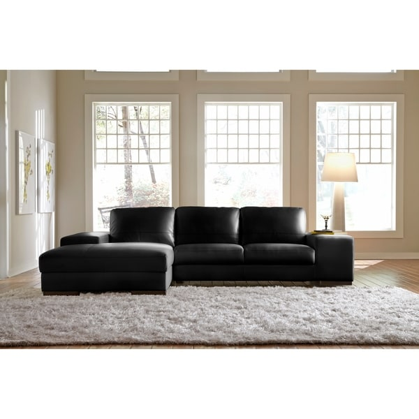 Shop Lazzaro Leather Sussex Sofa Seactional Free