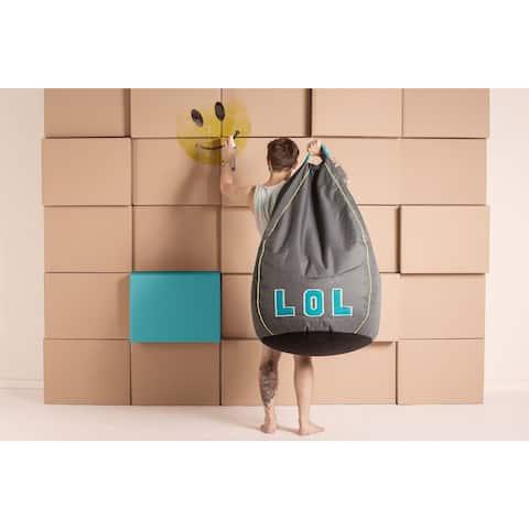 LOL Gray Bean Bag Chair