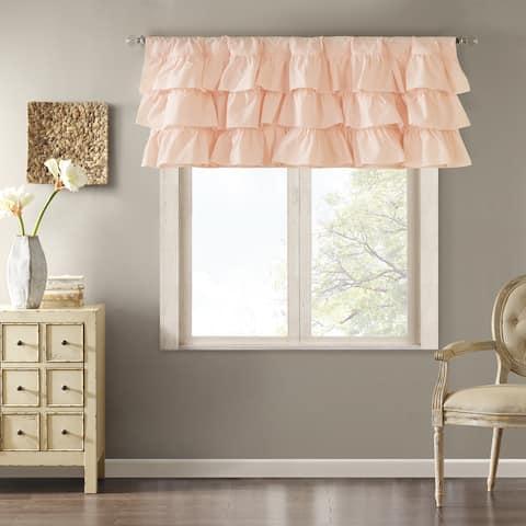 Madison Park Joycelyn Cotton Oversized Ruffle Curtain Valance