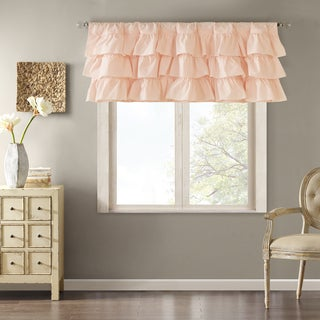 Madison Park Joycelyn Cotton Oversized Ruffle Curtain Valance