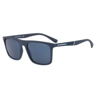 Emporio Armani Mens's EA4097 557596 56 Square Sunglasses