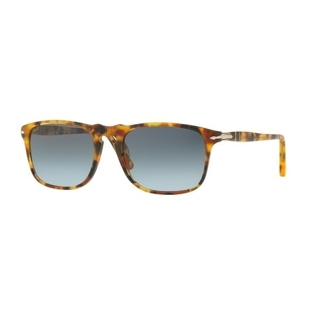 437ad2208a Shop Persol Square Po3059S 105286 Mens Havana Frame Blue Lens Sunglasses -  Free Shipping Today - Overstock - 17952857